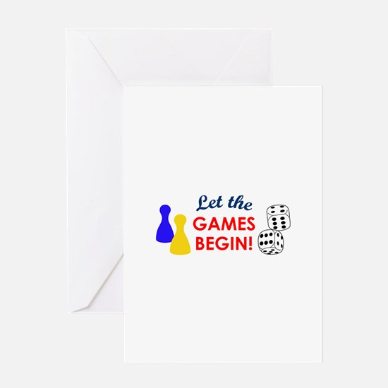 Let The Games Begin! Greeting Cards