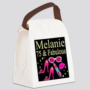 GORGEOUS 75TH Canvas Lunch Bag
