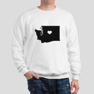 Heart in Washington State Hoodie Sweatshirt