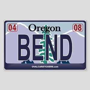 Oregon Plate - BEND Rectangle Sticker