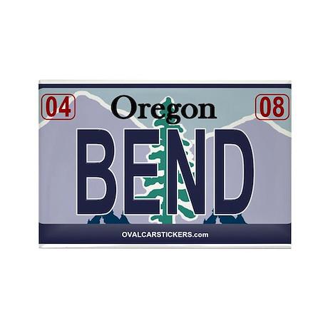 Oregon Plate - BEND Rectangle Magnet