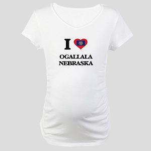 I love Ogallala Nebraska Maternity T-Shirt