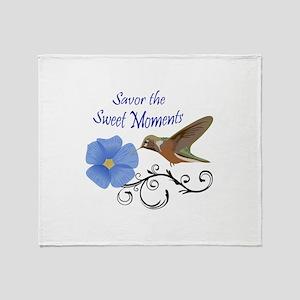 Savor The Sweet Moments Throw Blanket