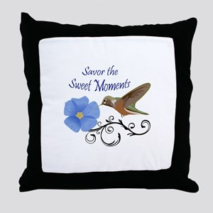 Savor The Sweet Moments Throw Pillow