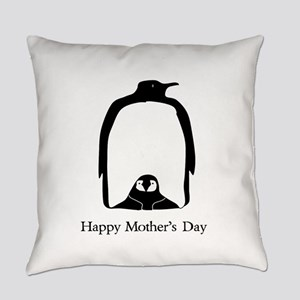 Mother's Day Penguins Everyday Pillow