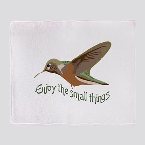 Enjoy The Small Things Throw Blanket