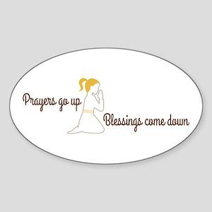 Prayers go up praying Sticker