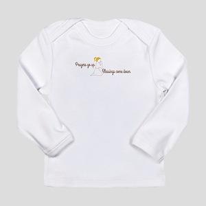 Prayers go up praying Long Sleeve T-Shirt