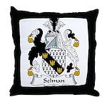 Selman Family Crest Throw Pillow