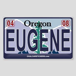 Oregon Plate - EUGENE Rectangle Sticker