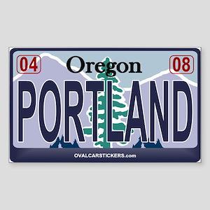 Oregon Plate - PORTLAND Rectangle Sticker