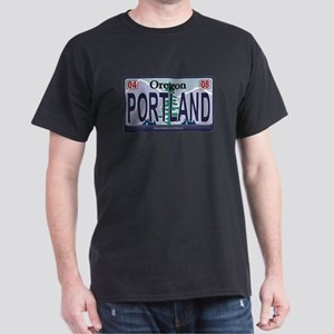 Oregon Plate - PORTLAND Dark T-Shirt