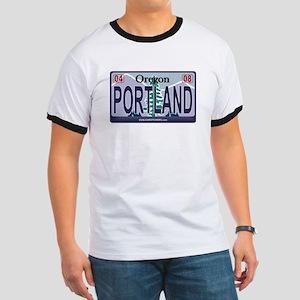 Oregon Plate - PORTLAND Ringer T