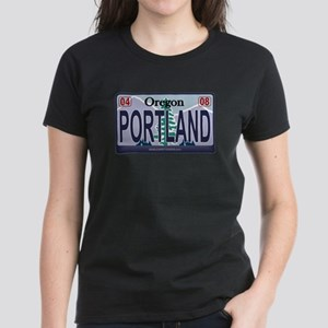 Oregon Plate - PORTLAND Women's Dark T-Shirt