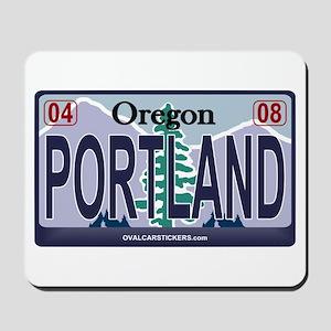 Oregon Plate - PORTLAND Mousepad