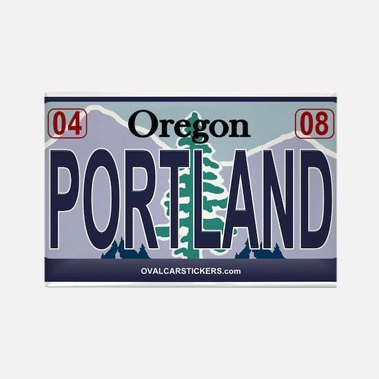 Oregon Plate - PORTLAND Rectangle Magnet
