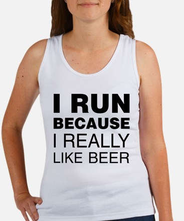 I Run For Beer Tank Top