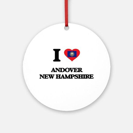 I love Andover New Hampshire Ornament (Round)