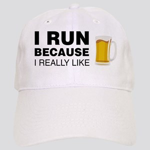 I Run For Beer Baseball Cap