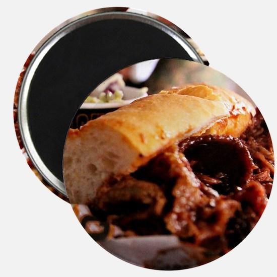 BBQ Beef Brisket Sandwich Magnets