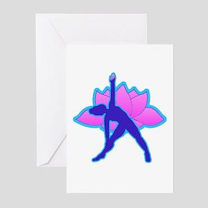 Yoga Triangle w Lotus Greeting Cards (Pk of 10)