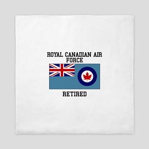 Royal Canadian Air Force Retired Queen Duvet