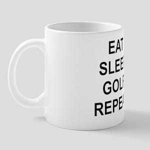 EAT SLEEP GOLF REPEAT Mug