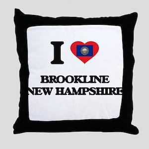 I love Brookline New Hampshire Throw Pillow