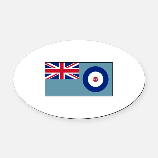 New Zealand Air Force Flag Oval Car Magnet