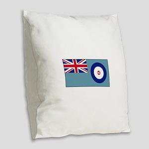 New Zealand Air Force Flag Burlap Throw Pillow