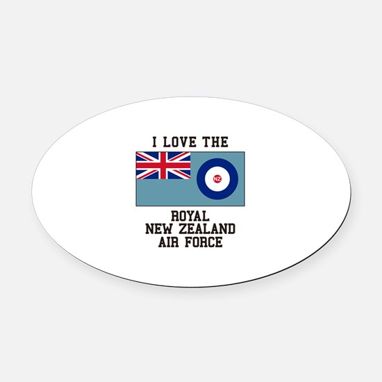 I Love The Royal New Zealand Air Force Oval Car Ma