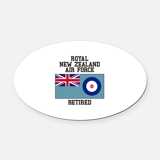 Royal New Zealand Air Force Retired Oval Car Magne