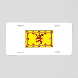 Royal Standard of Scotland Flag Aluminum License P