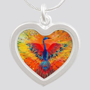 Phoenix 1 Silver Heart Necklace