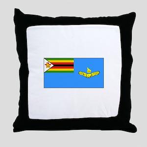 Zimbabwe Air Force Flag Throw Pillow