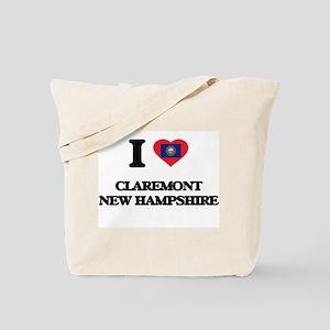 I love Claremont New Hampshire Tote Bag