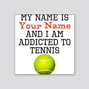 Tennis Addict Sticker
