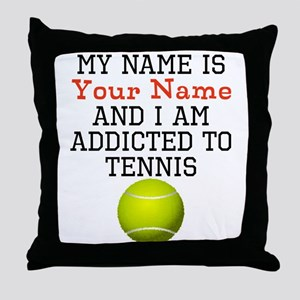 Tennis Addict Throw Pillow