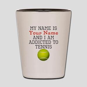 Tennis Addict Shot Glass