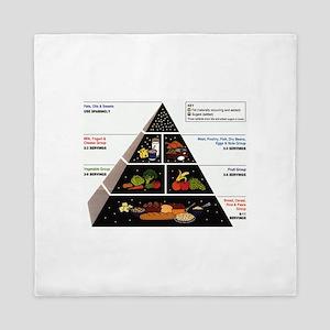 Food Pyramid Queen Duvet