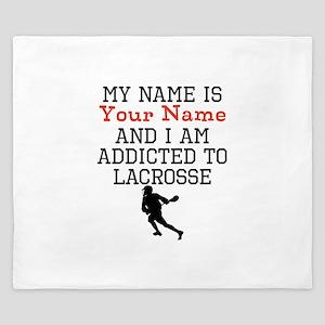 Lacrosse Addict King Duvet