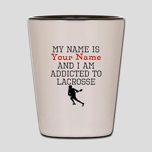 Lacrosse Addict Shot Glass