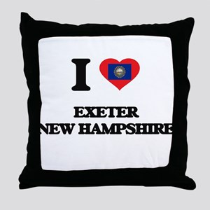 I love Exeter New Hampshire Throw Pillow