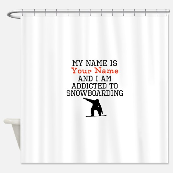 Snowboarding Addict Shower Curtain
