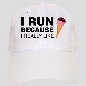 I Run Because I Like Ice Cream Baseball Cap
