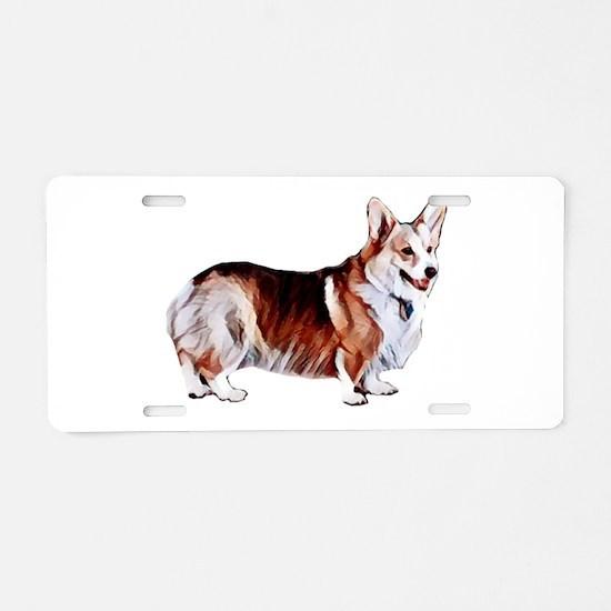 Tricolor Pembroke Welsh Cro Aluminum License Plate