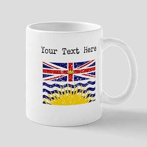 Worn British Columbia Flag (Custom) Mugs