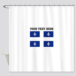 Custom Quebec Flag Shower Curtain