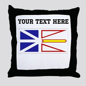 Custom Newfoundland Flag Throw Pillow