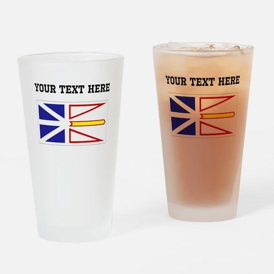 Custom Newfoundland Flag Drinking Glass